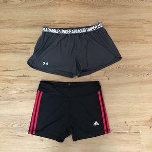 Adidas, under Armour Shorts